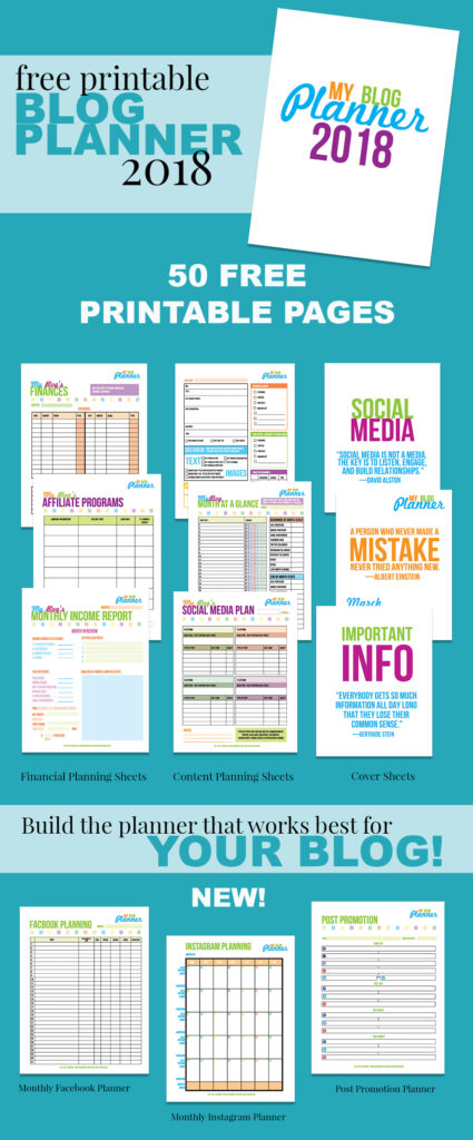 photograph regarding Blog Planner Printable called Absolutely free Printable Web site Planner 2018 A Perfectly Created Site
